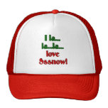 la...la...love snow trucker hat