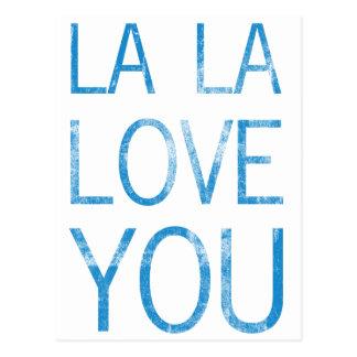 LA LA LOVE YOU POSTCARD