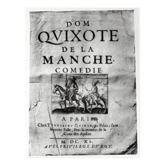 La la Mancha Comedie de los Dom Quijote de Tarjeta Postal