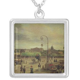 La la plaza de la Concordia en 1829 Collar Plateado
