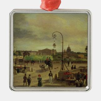 La la plaza de la Concordia en 1829 Adorno Cuadrado Plateado