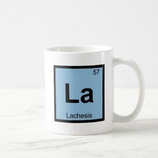 La - Lachesis Fates Chemistry Periodic Table Classic White Coffee Mug