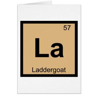 La - Laddergoat Chemistry Periodic Table Symbol Card