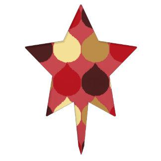 La lágrima geométrica poner crema roja de Ikat Decoración De Tarta