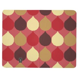 La lágrima geométrica poner crema roja de Ikat Cuaderno