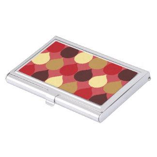 La lágrima geométrica poner crema roja de Ikat Cajas De Tarjetas De Presentación