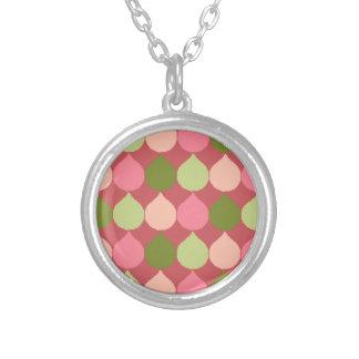 La lágrima geométrica verde rosada de Ikat Grimpola Personalizada