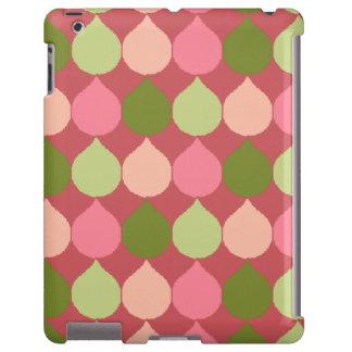 La lágrima geométrica verde rosada de Ikat Funda Para iPad
