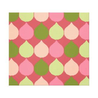 La lágrima geométrica verde rosada de Ikat Lona Estirada Galerias