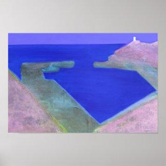 """La laguna azul Abereiddy"" Julia Christine Gannon Póster"