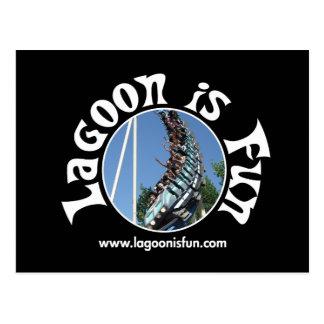 La laguna es diversión - oscuridad del coloso tarjeta postal