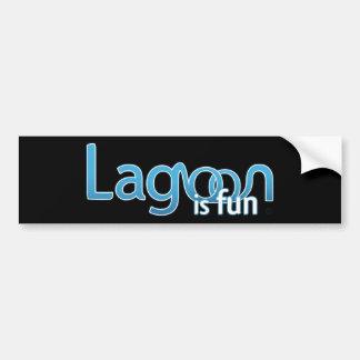 La laguna es logotipo de la diversión pegatina para auto