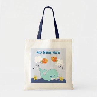 La laguna/la ballena/los pescados azules bolsa lienzo