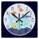La laguna/la ballena/los pescados azules personali reloj de pared