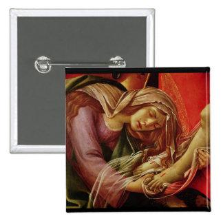 La lamentación de Cristo Pin Cuadrada 5 Cm
