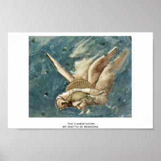 La lamentación de Giotto Di Bondone Posters
