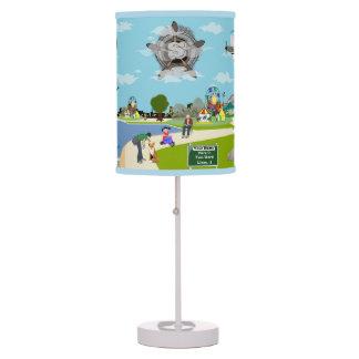 La lámpara adaptable de la historia de la playa