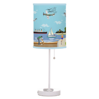 La lámpara adaptable de la historia del paseo