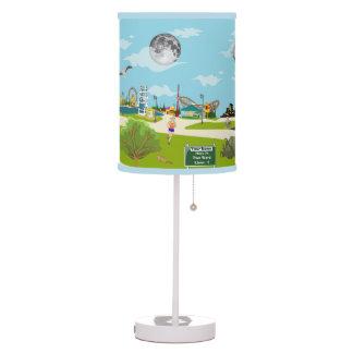 La lámpara adaptable justa de la historia de la