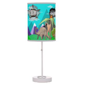 La lámpara de la historia del dinosaurio del