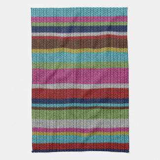 La lana hecha punto de moda suave linda efectúa in toalla de mano
