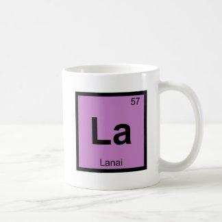 La - Lanai Hawaii Island Chemistry Periodic Table Coffee Mug