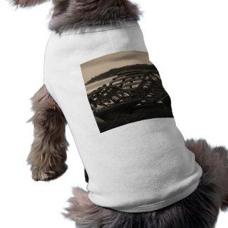 La langosta atrapa sepia playera sin mangas para perro