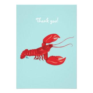 La langosta le agradece tarjeta de nota