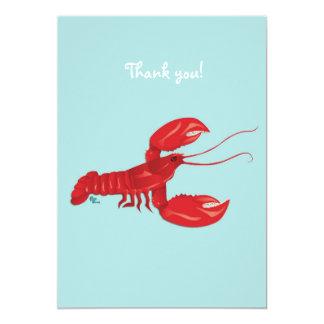 La langosta le agradece tarjeta de nota anuncios