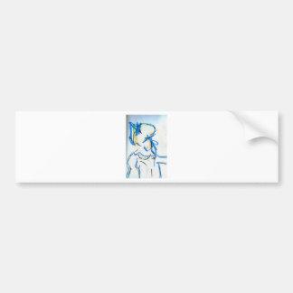 La lanza de la sacudida etiqueta de parachoque