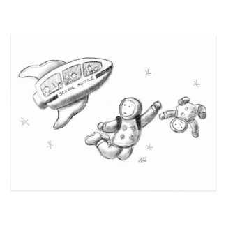 La lanzadera de la escuela del espacio está postales