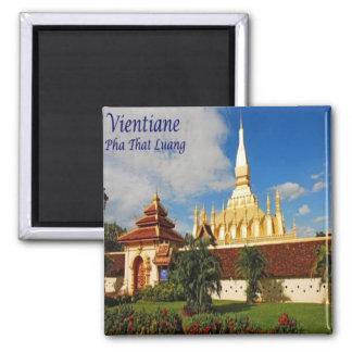 LA - Laos - Vientiane - Pha That Luang Magnet