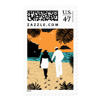 La largas horas sello postal