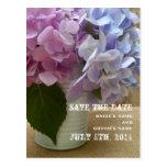 La lata de Hydrangeas ahorra la postal de la fecha