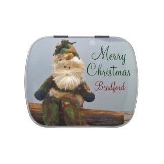 La lata del caramelo de Santa del camuflaje añade Frascos De Dulces