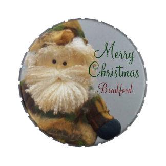 La lata del caramelo de Santa del camuflaje añade Frascos De Caramelos