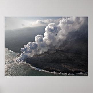 La lava resuelve el mar - Hawaii Posters