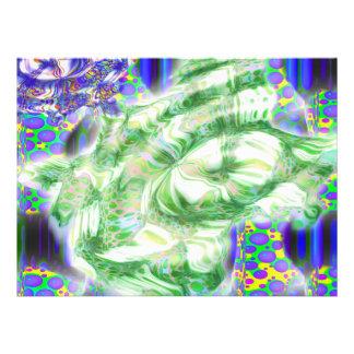 la lava soña arte abstracto nuclear invitación