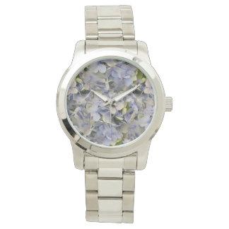 La lavanda florece la cara del Hydrangea Relojes De Pulsera