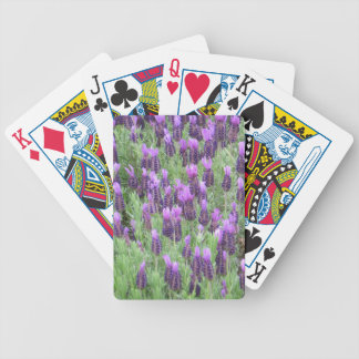La lavanda florece naipes baraja cartas de poker