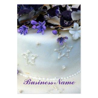 La lavanda florece tarjetas de visita