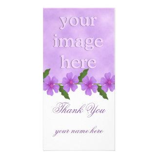 La lavanda le agradece las tarjetas de la foto tarjetas fotograficas