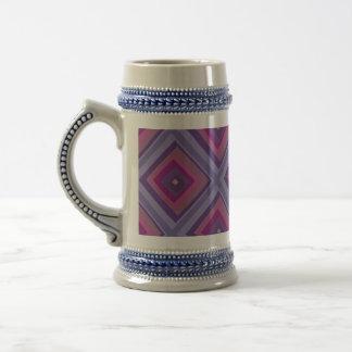 la lavanda púrpura de la pasión coloca arte del jarra de cerveza