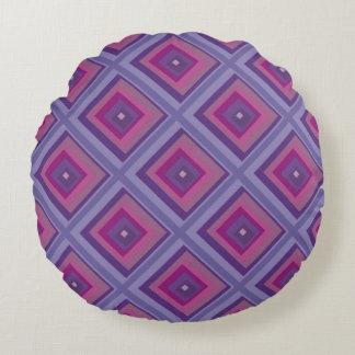 la lavanda púrpura de la pasión coloca arte del cojín redondo