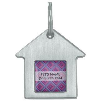 la lavanda púrpura de la pasión coloca arte del placa de nombre de mascota