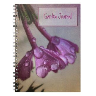 La lavanda rosada florece cuaderno del jardín