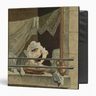 "La lavandera, grabada por J. Laurent Julien (c1 Carpeta 1 1/2"""
