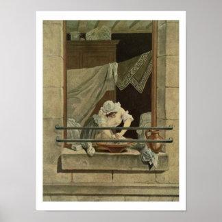 La lavandera, grabada por J. Laurent Julien (c1 Poster