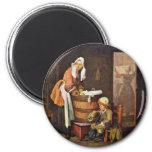 La lavandera, por Chardin Jean-Baptiste Siméon Imanes