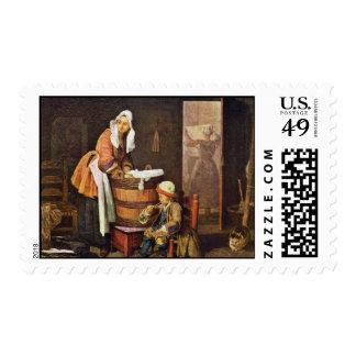 La lavandera, por Chardin Jean-Baptiste Siméon Sellos